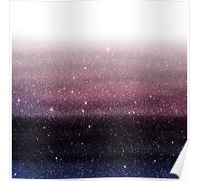 Wine Purple and Navy Blue Faux Glitter Gradient Poster