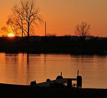 Sunset over Prairie Creek Lake and Campground by mltrue