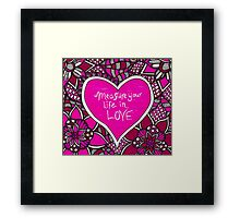 Rent Quote Zentangle Framed Print