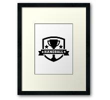 Handball trophy Framed Print