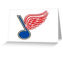 Detroit Blues - St. Louis Red Wings Greeting Card