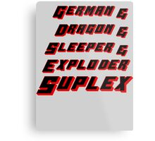 Suplex Variations T - Shirt Metal Print