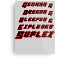 Suplex Variations T - Shirt Metal Print