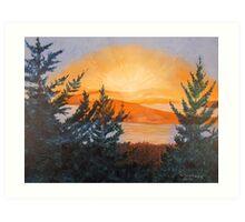 San Juan Sunset Art Print