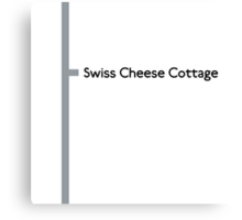 Swiss Cheese Cottage station Canvas Print