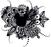 Zentangle Disney Mickey Mouse by LeonniesArt