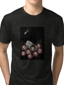 Alternative Peacock of Doom (black) Tri-blend T-Shirt