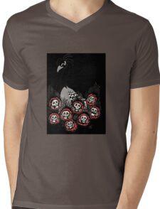 Alternative Peacock of Doom (black) Mens V-Neck T-Shirt