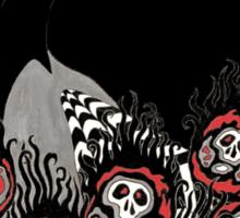 Alternative Peacock of Doom (black) Sticker
