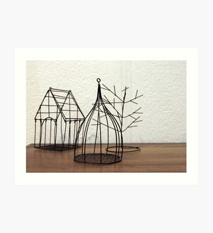 Wire decorations  Art Print