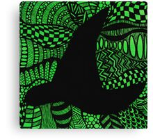 Elphaba Hat Wicked Zentangle Canvas Print