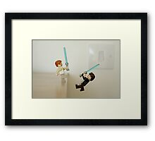"""""""You've taken your first step into a larger world."""" Framed Print"""