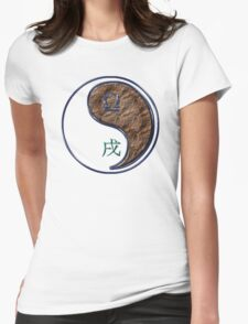 Libra & Dog Yang Earth Womens Fitted T-Shirt