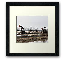 The Twins -  Oil Donkeys - Northern Alberta Framed Print