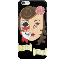Beauty is Only Skin Deep (Black) iPhone Case/Skin