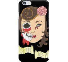 Beauty is Only Skin Deep (Black) iPhone Case/Skin