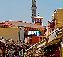 Rhodes Typical Crowded  Street - Lets Go Shopping! by Memaa
