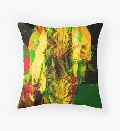 Edo mirrored Throw Pillow