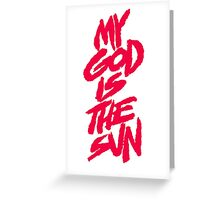 queens of the stone age-my god is the sun Greeting Card
