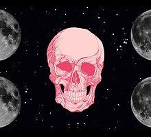 Pink moon skull  by ItRainsArt