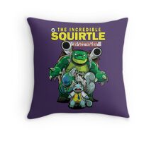 The Incredible Squirtle Throw Pillow