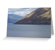 Queenstown lake Wakatipu Greeting Card