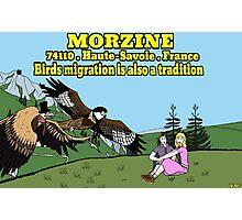 "MORZINE "" Birds migration , an unforgettable show.... "" Photographic Print"