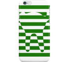 Green striped cat iPhone Case/Skin