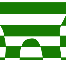Green striped cat Sticker
