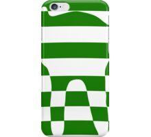 Green striped cat 2 iPhone Case/Skin