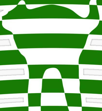 Green striped cat 2 Sticker