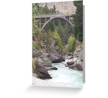 shotover river, queenstown Greeting Card