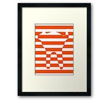 Orange striped cat Framed Print