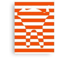 Orange striped cat Canvas Print