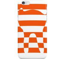 Orange striped cat 2 iPhone Case/Skin