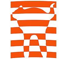 Orange striped cat 2 Photographic Print