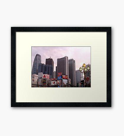 Downtown Tokyo Framed Print