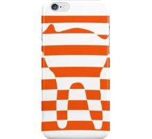 Orange striped cat 3 iPhone Case/Skin