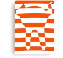 Orange striped cat 3 Canvas Print