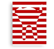 red striped cat Canvas Print