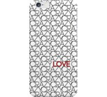 """Crazy, Love"" Typography Pattern in Black White  iPhone Case/Skin"