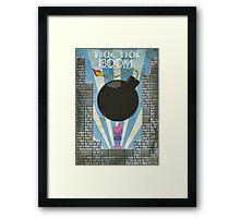 Bomberman Art Deco Style Framed Print