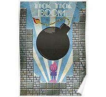Bomberman Art Deco Style Poster