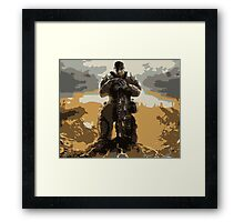 Marcus Fenix Gears of War 3 Framed Print