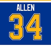 St. Louis Blues Jake Allen Jersey Back Phone Case by Russ Jericho