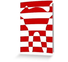 red striped cat 2 Greeting Card