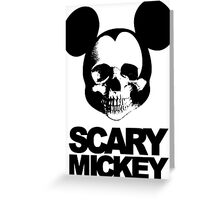 Scary Mickey Greeting Card