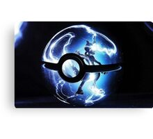 mewtwo in a pokeball Canvas Print