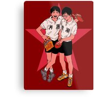 Peko and Smile - Ping Pong Metal Print