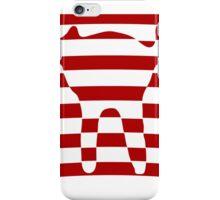 red striped cat 3 iPhone Case/Skin